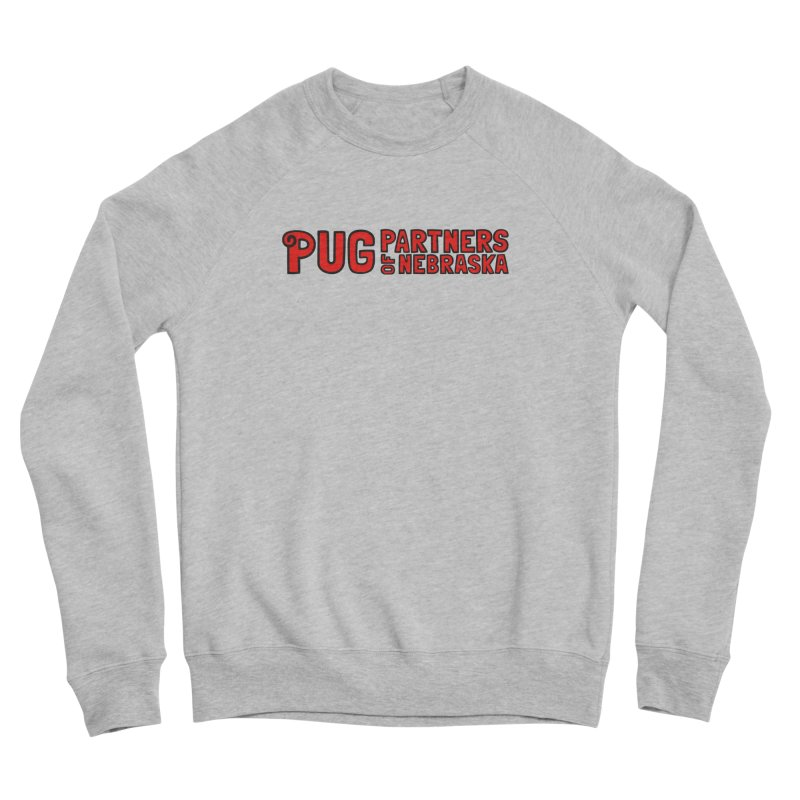 Classic Red Logo Men's Sponge Fleece Sweatshirt by Pug Partners of Nebraska