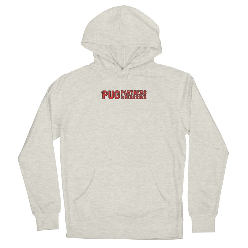 Classic Red Logo Women's French Terry Pullover Hoody by Pug Partners of Nebraska
