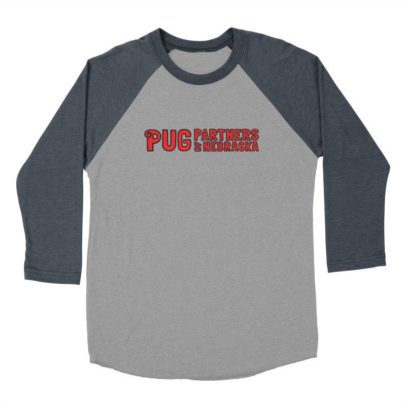Classic Red Logo Women's Baseball Triblend Longsleeve T-Shirt by Pug Partners of Nebraska