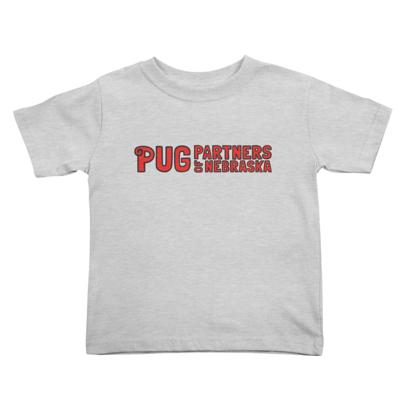 Classic Red Logo Kids Toddler T-Shirt by Pug Partners of Nebraska