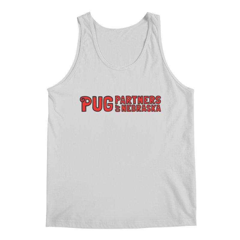 Classic Red Logo Men's Regular Tank by Pug Partners of Nebraska