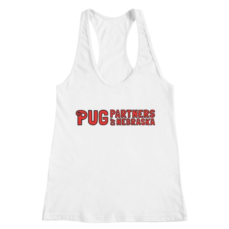 Classic Red Logo Women's Racerback Tank by Pug Partners of Nebraska