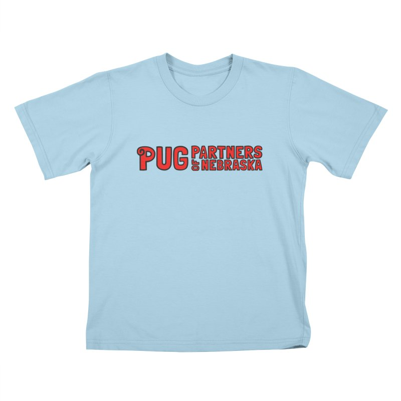 Classic Red Logo Kids T-Shirt by Pug Partners of Nebraska