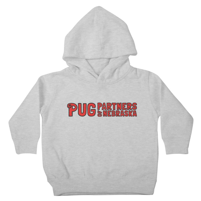 Classic Red Logo Kids Toddler Pullover Hoody by Pug Partners of Nebraska