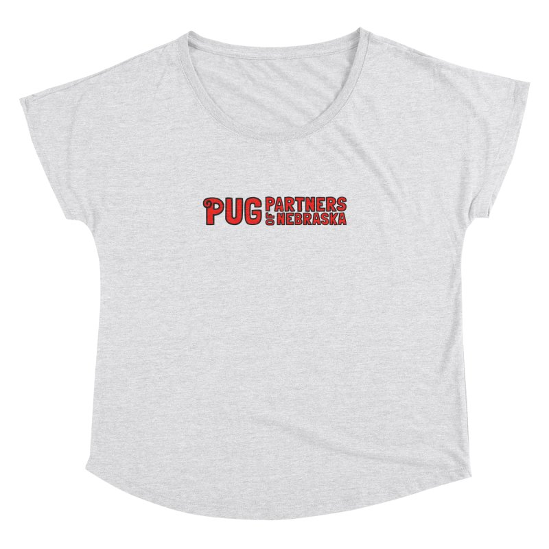 Classic Red Logo Women's Dolman Scoop Neck by Pug Partners of Nebraska