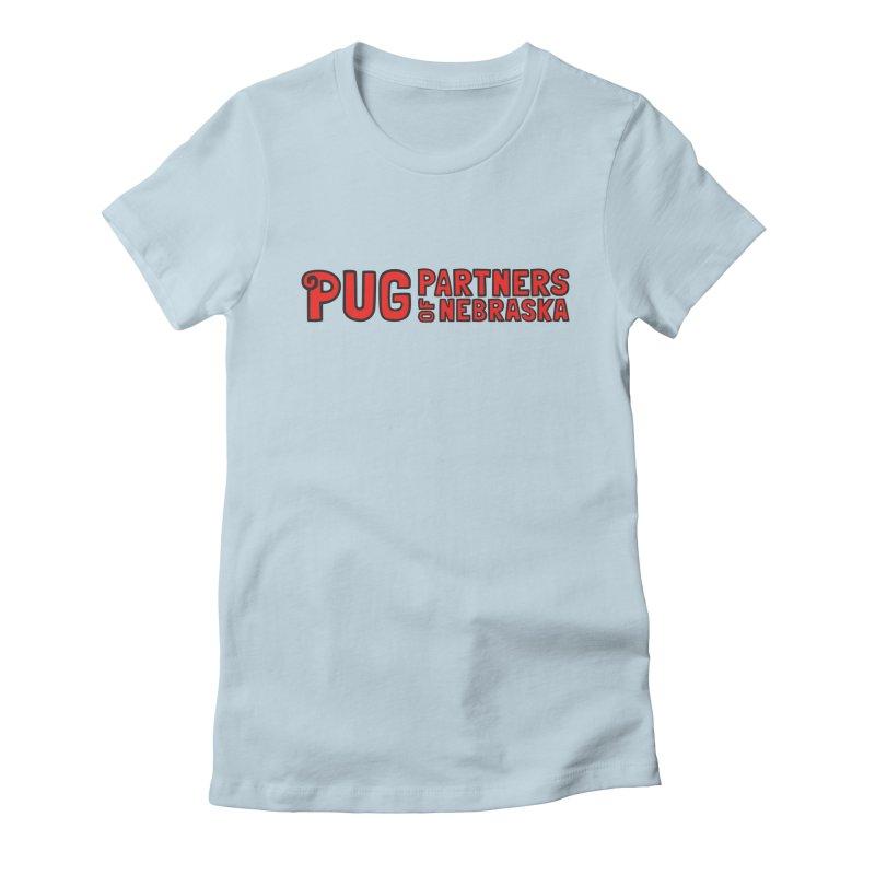 Classic Red Logo Women's T-Shirt by Pug Partners of Nebraska