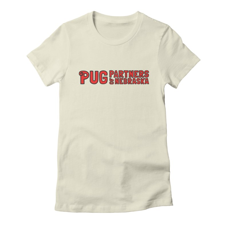 Classic Red Logo Women's Fitted T-Shirt by Pug Partners of Nebraska