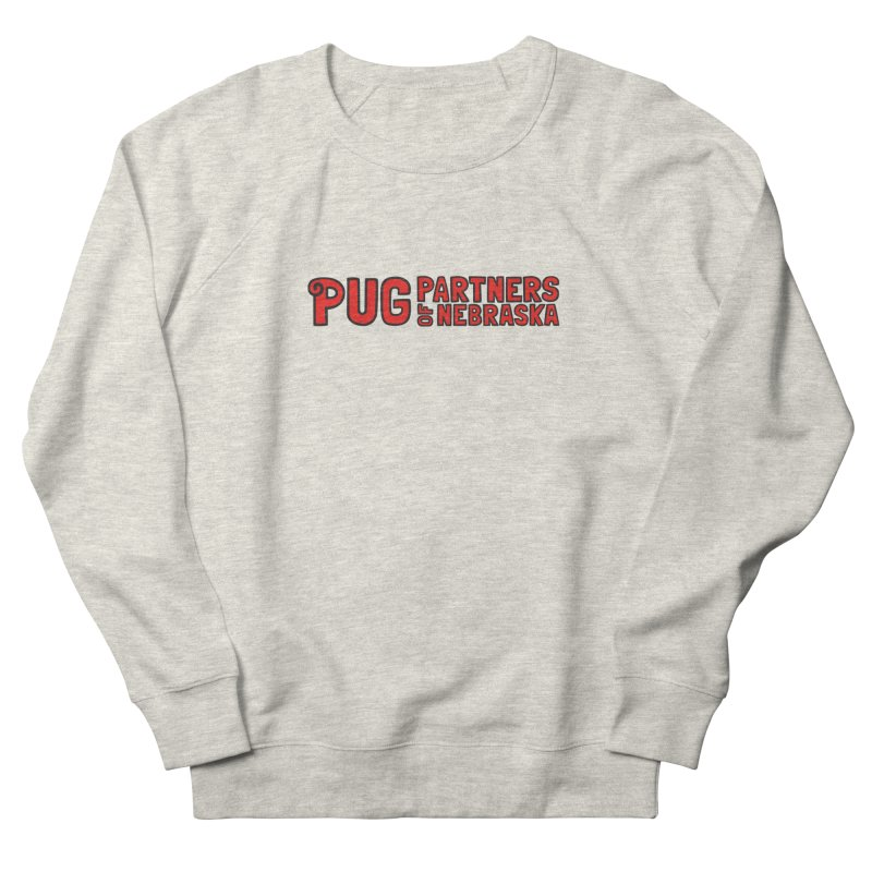 Classic Red Logo Women's French Terry Sweatshirt by Pug Partners of Nebraska