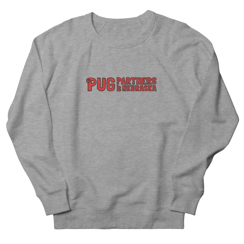 Classic Red Logo Men's French Terry Sweatshirt by Pug Partners of Nebraska