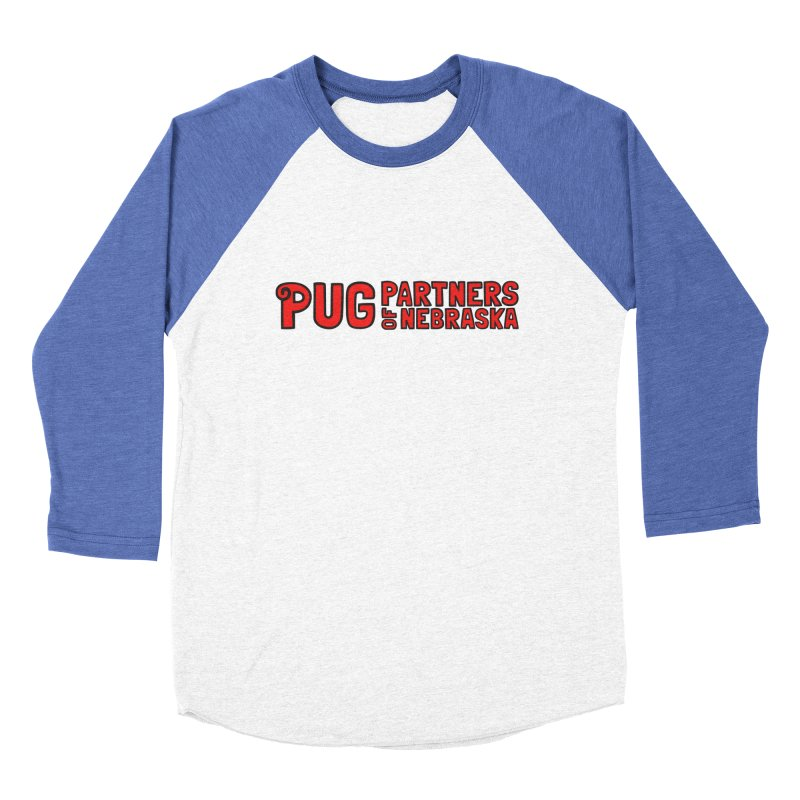 Classic Red Logo Men's Baseball Triblend Longsleeve T-Shirt by Pug Partners of Nebraska