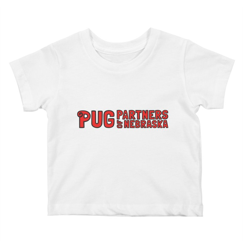Classic Red Logo Kids Baby T-Shirt by Pug Partners of Nebraska