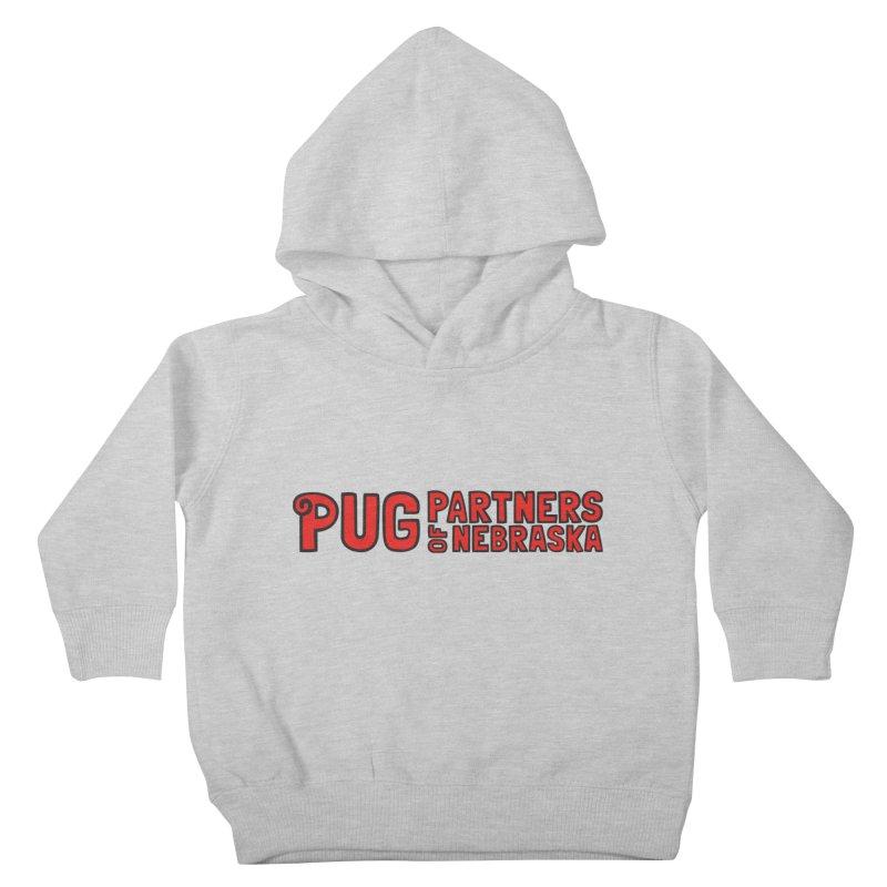 Classic Red Logo Kids Toddler Pullover Hoody by Pug Partners of Nebraska