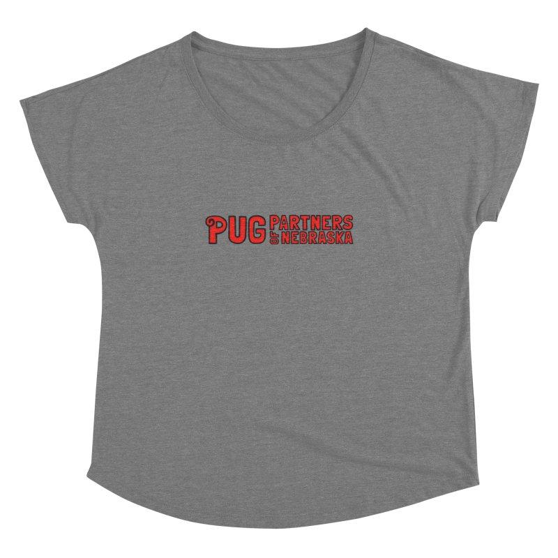 Classic Red Logo Women's Dolman Scoop Neck by Pug Partners of Nebraska