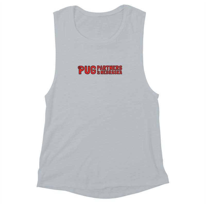 Classic Red Logo Women's Muscle Tank by Pug Partners of Nebraska