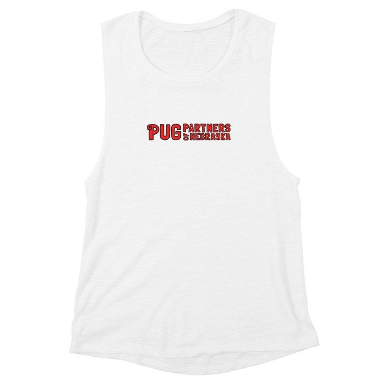 Classic Red Logo Women's Muscle Tank by Pug Partners of Nebraska