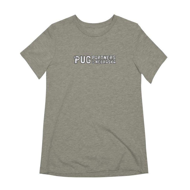 Classic White Logo Women's Extra Soft T-Shirt by Pug Partners of Nebraska
