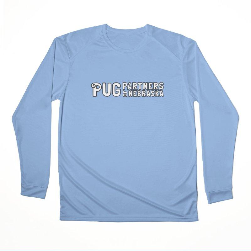 Classic White Logo Men's Performance Longsleeve T-Shirt by Pug Partners of Nebraska