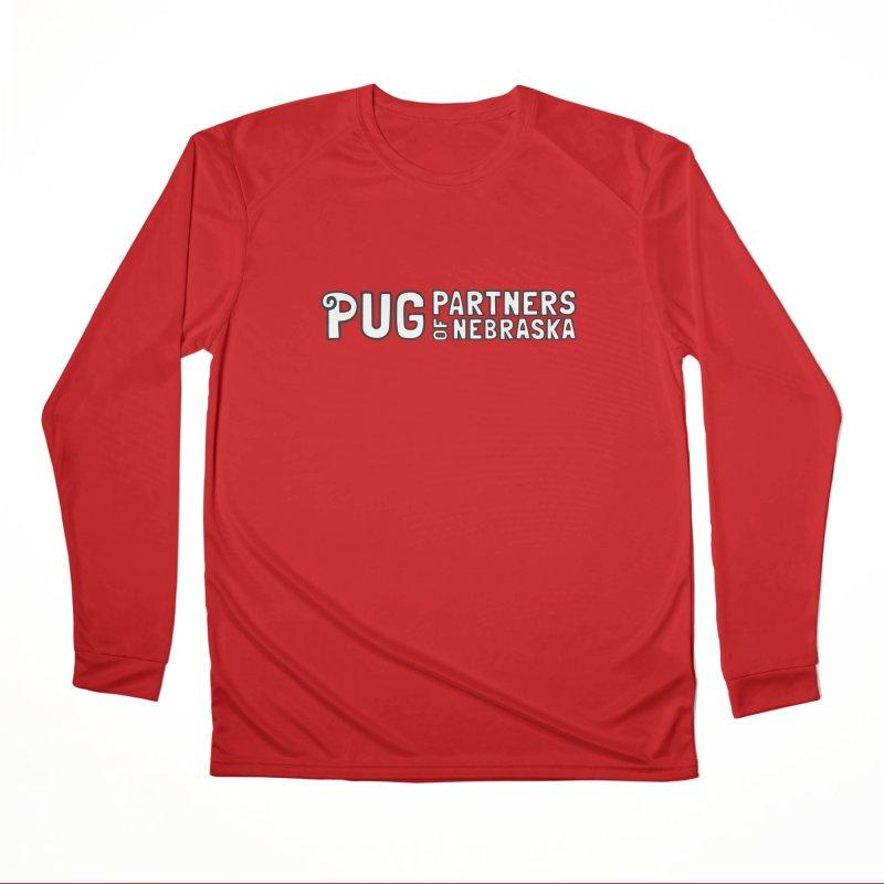 Classic White Logo Women's Performance Unisex Longsleeve T-Shirt by Pug Partners of Nebraska