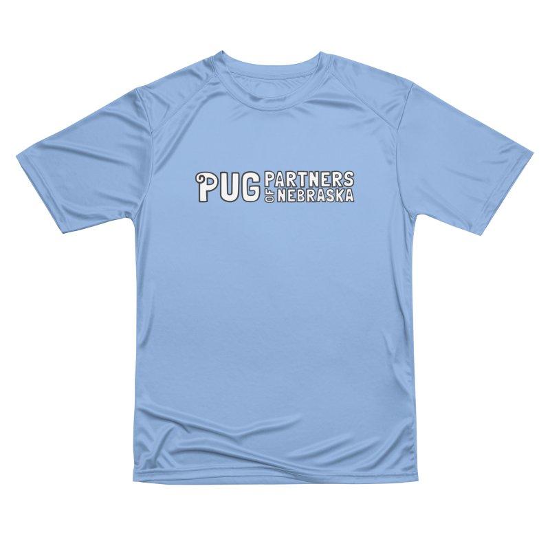 Classic White Logo Men's Performance T-Shirt by Pug Partners of Nebraska