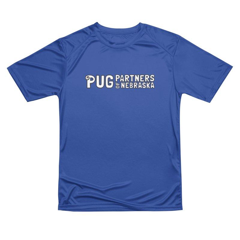 Classic White Logo Women's Performance Unisex T-Shirt by Pug Partners of Nebraska