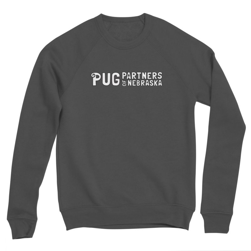 Classic White Logo Men's Sponge Fleece Sweatshirt by Pug Partners of Nebraska