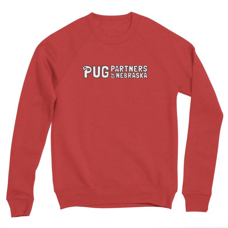 Classic White Logo Men's Sponge Fleece Sweatshirt by Pug Partners of Nebraska