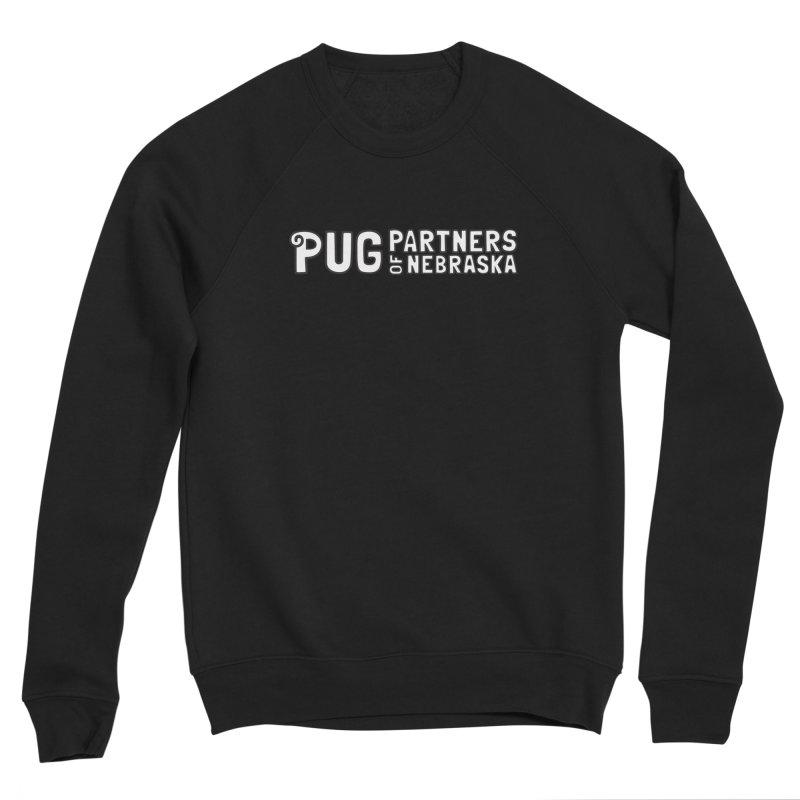 Classic White Logo Women's Sponge Fleece Sweatshirt by Pug Partners of Nebraska