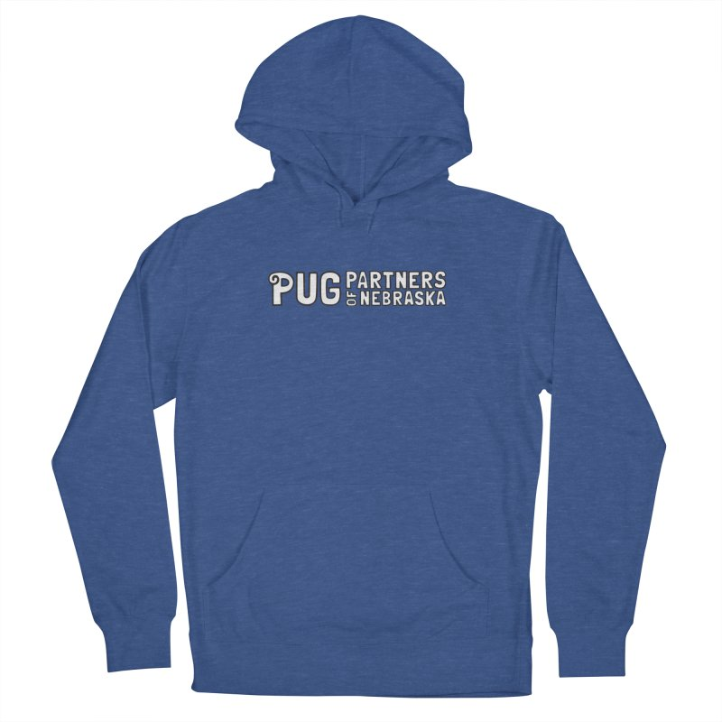Classic White Logo Women's Pullover Hoody by Pug Partners of Nebraska
