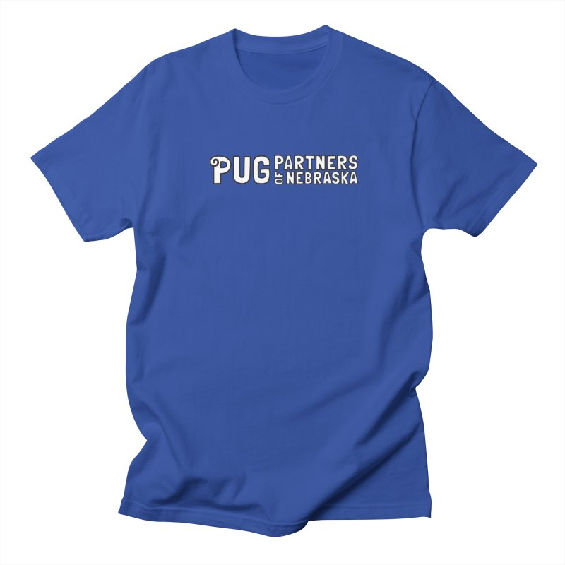 Classic White Logo Men's T-Shirt by Pug Partners of Nebraska