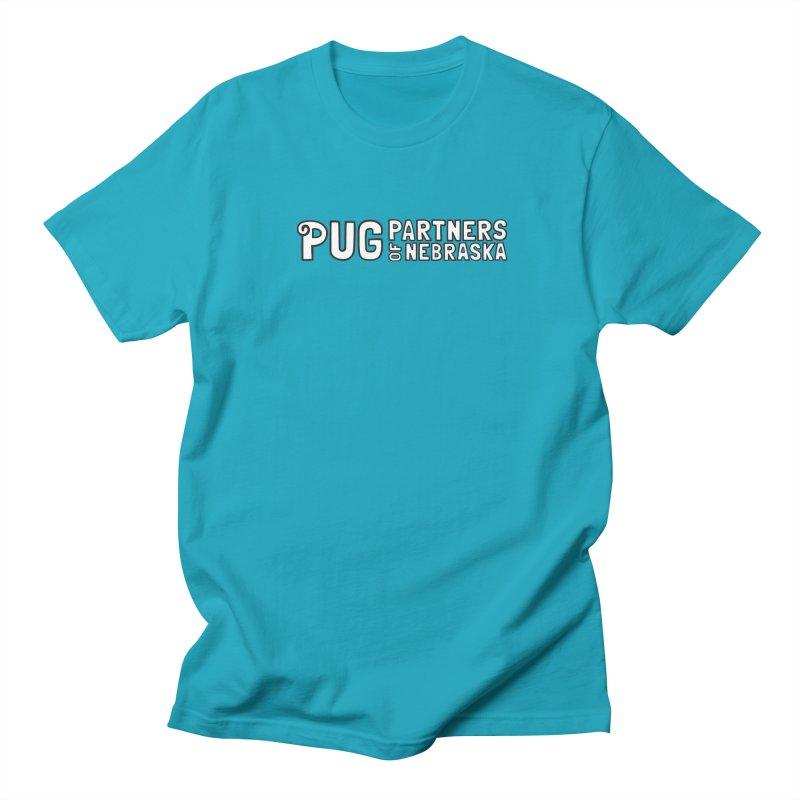 Classic White Logo Men's Regular T-Shirt by Pug Partners of Nebraska