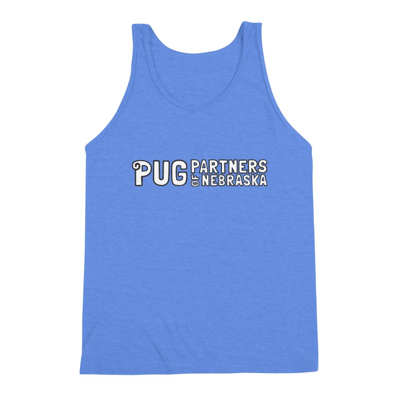 Classic White Logo Men's Triblend Tank by Pug Partners of Nebraska