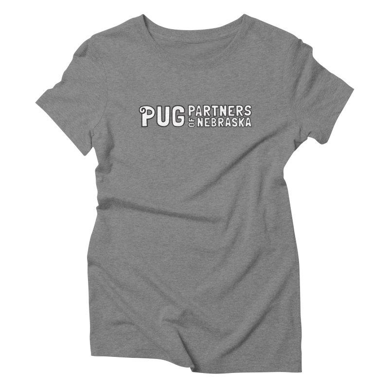 Classic White Logo Women's T-Shirt by Pug Partners of Nebraska