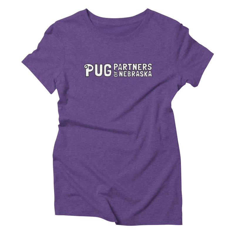 Classic White Logo Women's T-Shirt by Pug Partners of Nebraska