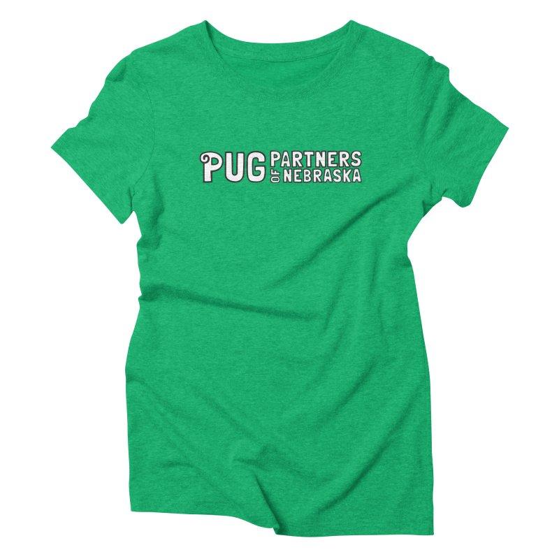 Classic White Logo Women's Triblend T-Shirt by Pug Partners of Nebraska