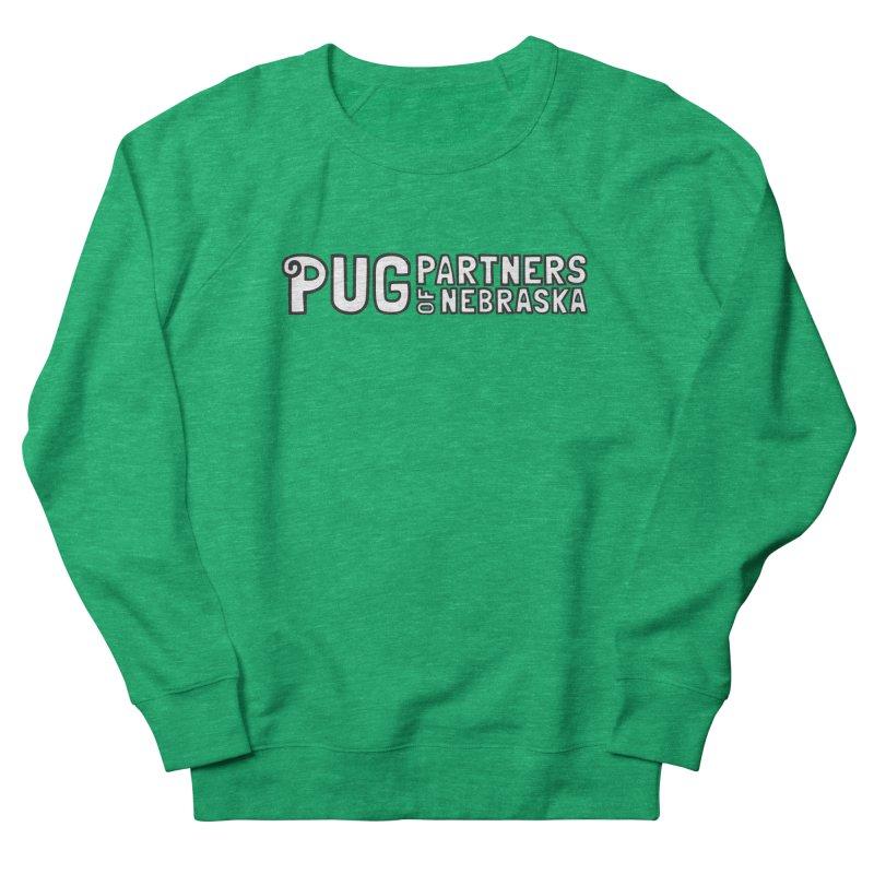 Classic White Logo Women's Sweatshirt by Pug Partners of Nebraska