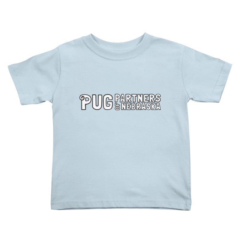 Classic White Logo Kids Toddler T-Shirt by Pug Partners of Nebraska