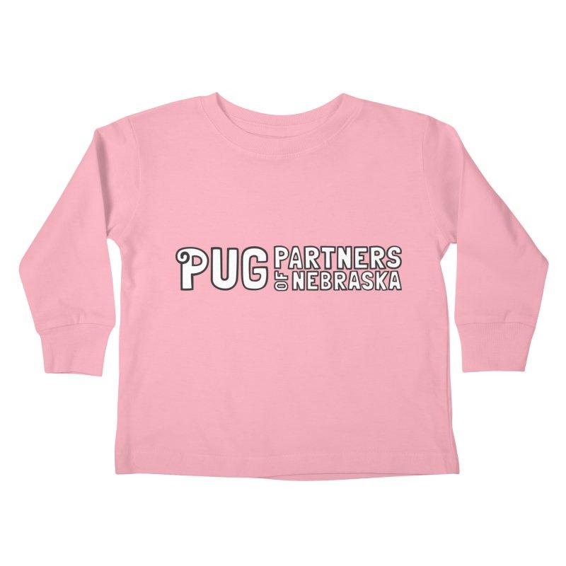Classic White Logo Kids Toddler Longsleeve T-Shirt by Pug Partners of Nebraska