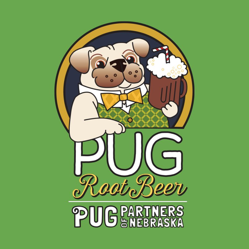 Pug Root Beer - Green Men's Zip-Up Hoody by Pug Partners of Nebraska