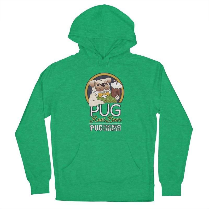Pug Root Beer - Green Men's Pullover Hoody by Pug Partners of Nebraska