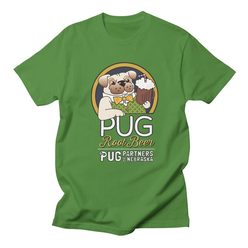 Pug Root Beer - Green Men's Regular T-Shirt by Pug Partners of Nebraska