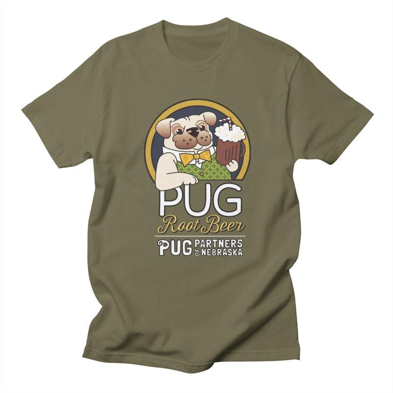 Pug Root Beer - Green Men's Regular T-Shirt by Pug Partners of Nebraska