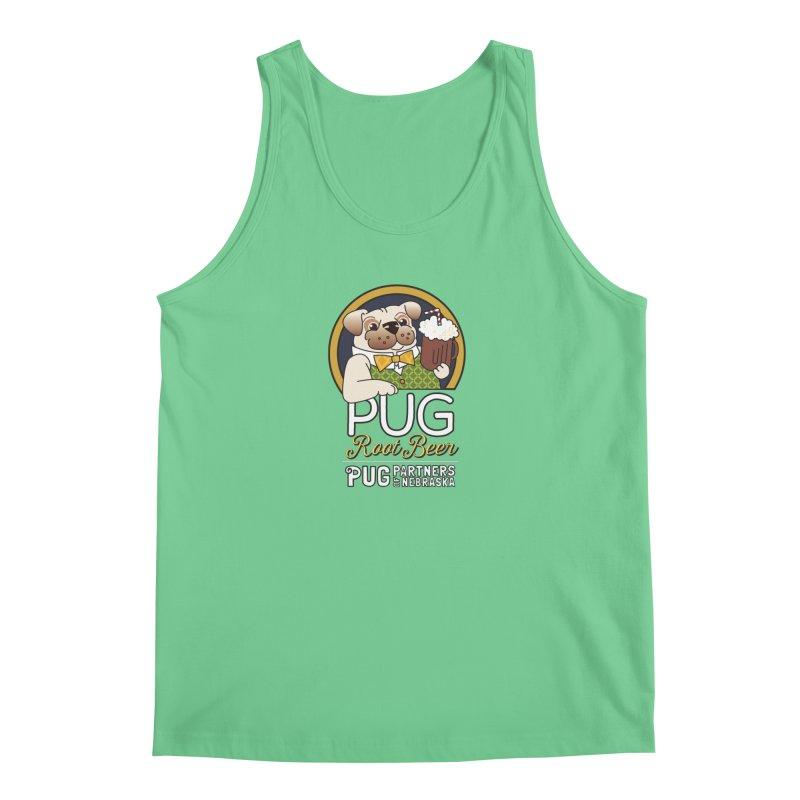 Pug Root Beer - Green Men's Tank by Pug Partners of Nebraska