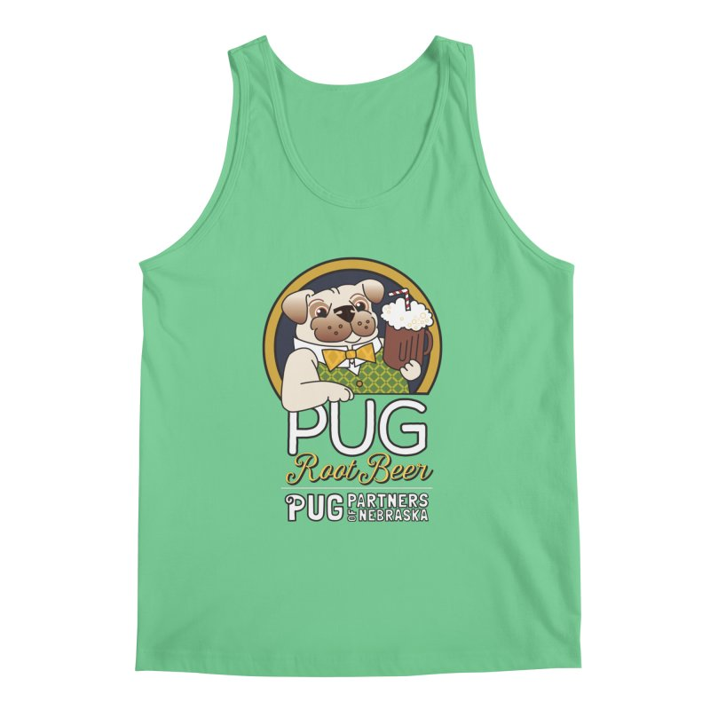Pug Root Beer - Green Men's Regular Tank by Pug Partners of Nebraska