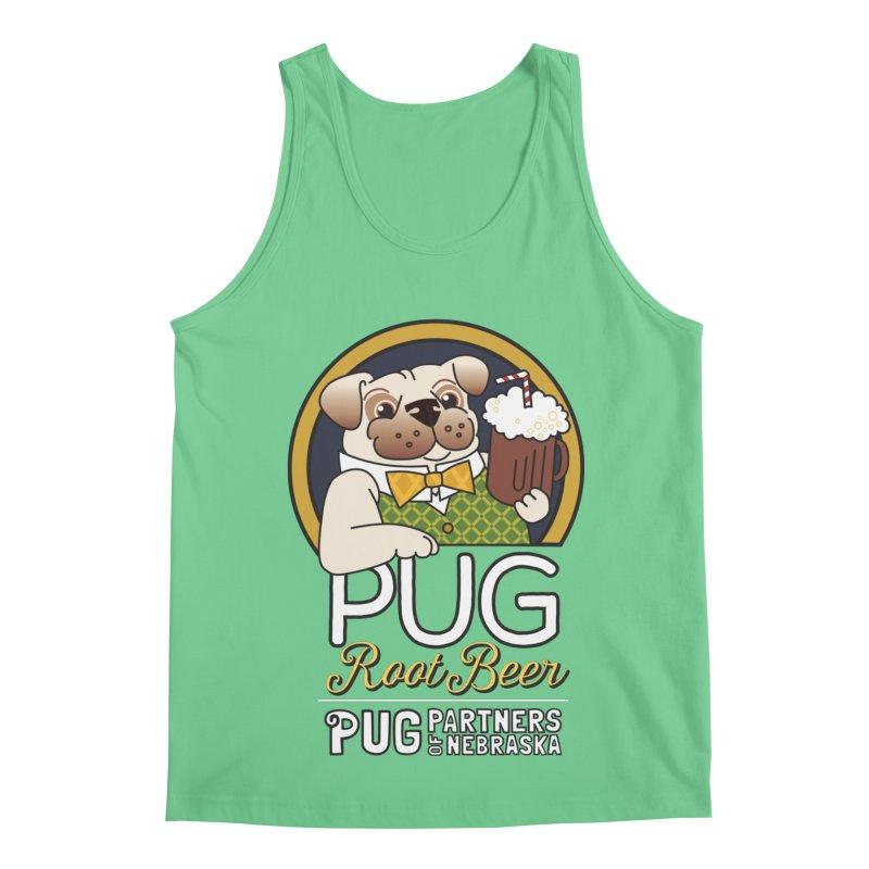 Pug Root Beer - Green Men's Regular Tank by Pug Partners of Nebraska