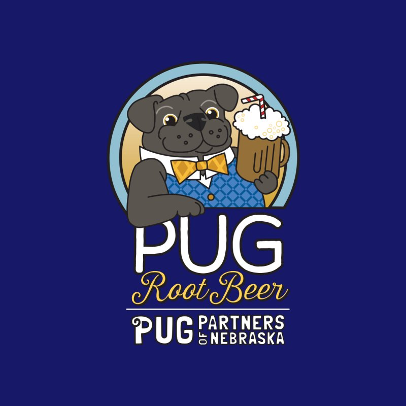 Pug Root Beer - Blue Accessories Bag by Pug Partners of Nebraska