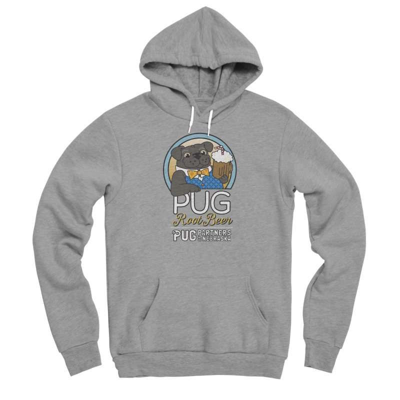Pug Root Beer - Blue Women's Sponge Fleece Pullover Hoody by Pug Partners of Nebraska