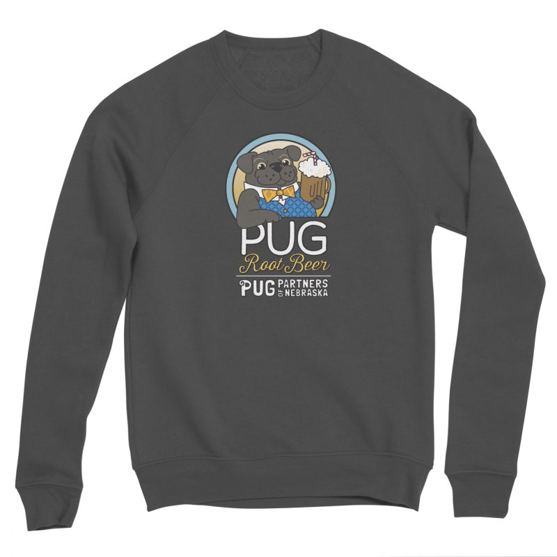 Pug Root Beer - Blue Men's Sponge Fleece Sweatshirt by Pug Partners of Nebraska