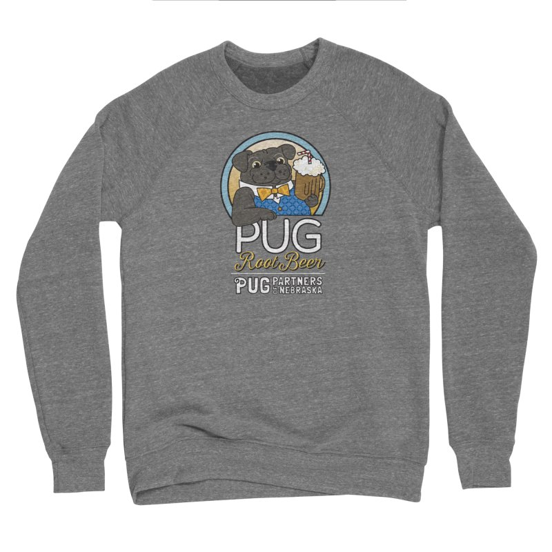 Pug Root Beer - Blue Women's Sponge Fleece Sweatshirt by Pug Partners of Nebraska