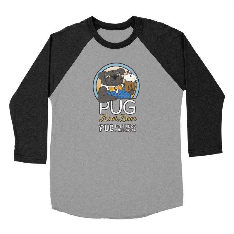 Pug Root Beer - Blue Men's Longsleeve T-Shirt by Pug Partners of Nebraska