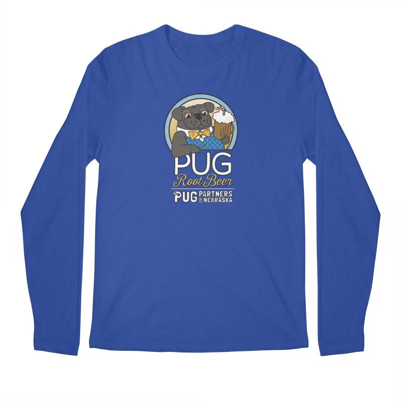 Pug Root Beer - Blue Men's Regular Longsleeve T-Shirt by Pug Partners of Nebraska